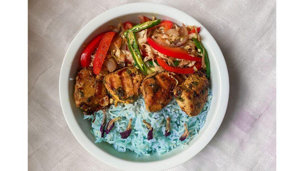 Blue Rice Buddha Bowl Recipe