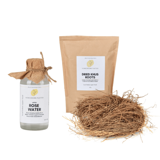 Summer essentials kit [Rose water and khus roots]