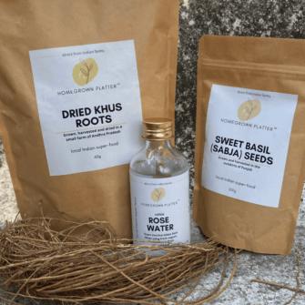 Summer essentials combo with sabja seeds